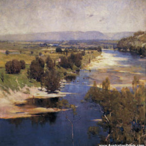 Arthur Streeton, Purple Noon's Transparent Night