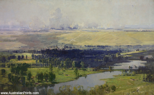 Arthur Streeton, The Somme Valley Near Corbie