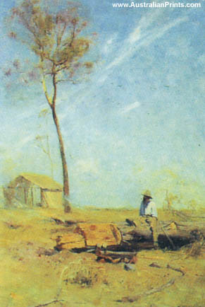 Arthur Streeton, Whelan On the Log