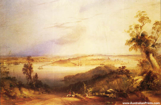 Conrad Martens, View Of Sydney From North Shore