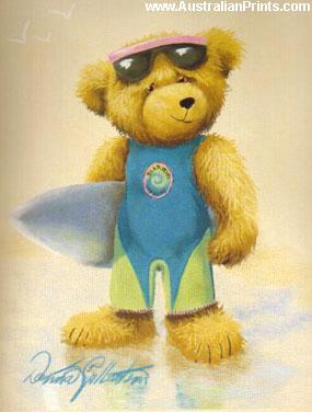 Donna Gilbertson, Surfing Teddy