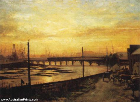 Frederick McCubbin, Falls Bridge, Melbourne, 1882