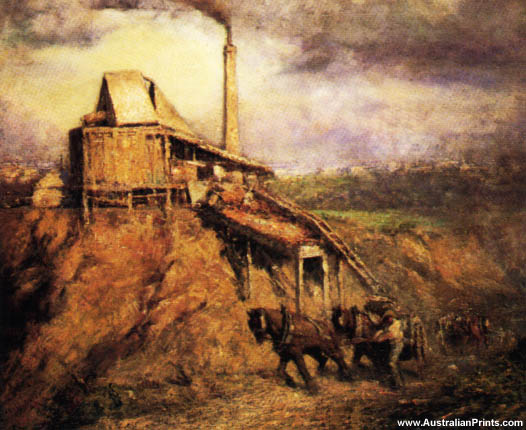 Frederick McCubbin, The Stone Crusher At Richmond