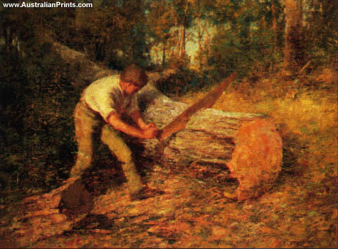 Frederick McCubbin, The Woodsawyer