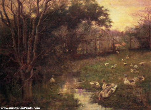 Frederick McCubbin, Winter Evening, 1897