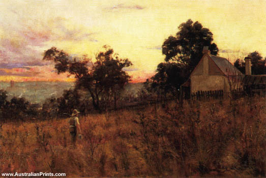 Frederick McCubbin, Winter Evening, Hawthorn, 1886