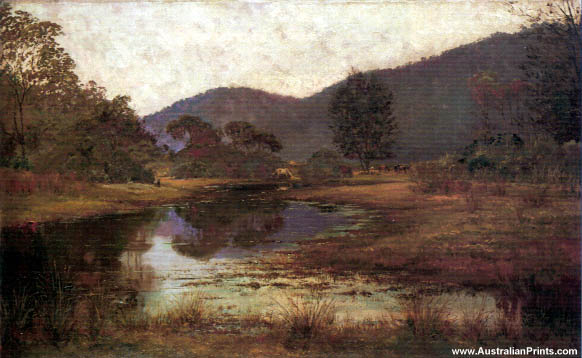 Julian Ashton - Waterhole On The Hawkesbury 1885
