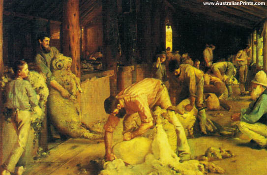 Tom Roberts, Shearing The Rams, 1890